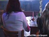 אורגיה במסיבת סקס במועדון של חרמניות
